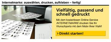 Internetmarke Deutsche post selber ausdrucken