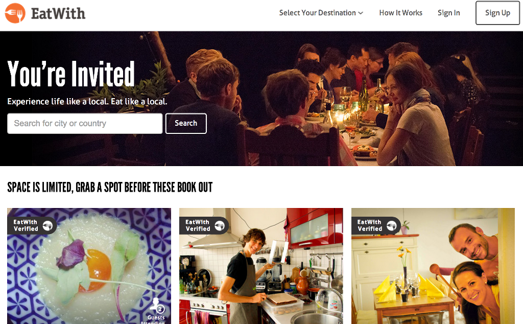 Eatwith Homepage