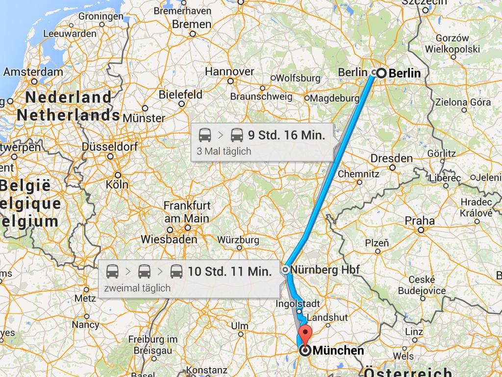 Busverbindung Berlin München